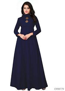 Attractive Galaxy Slub Solid Gowns