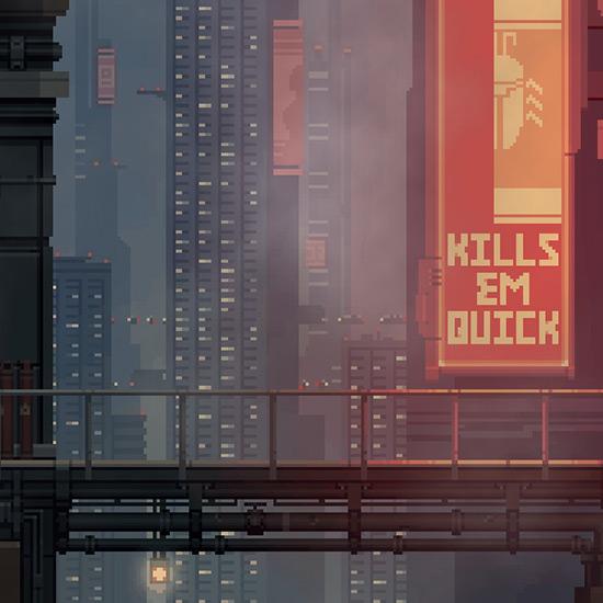 Pixel Art Cityscape Wallpaper Engine
