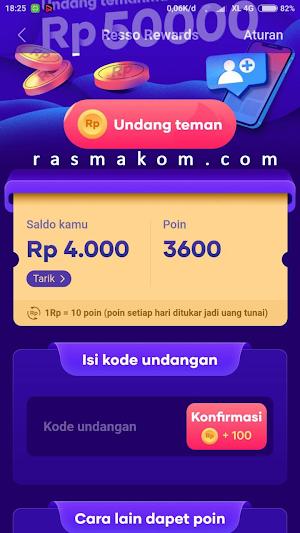 Resso Aplikasi  Penghasil Uang Rp 50.000