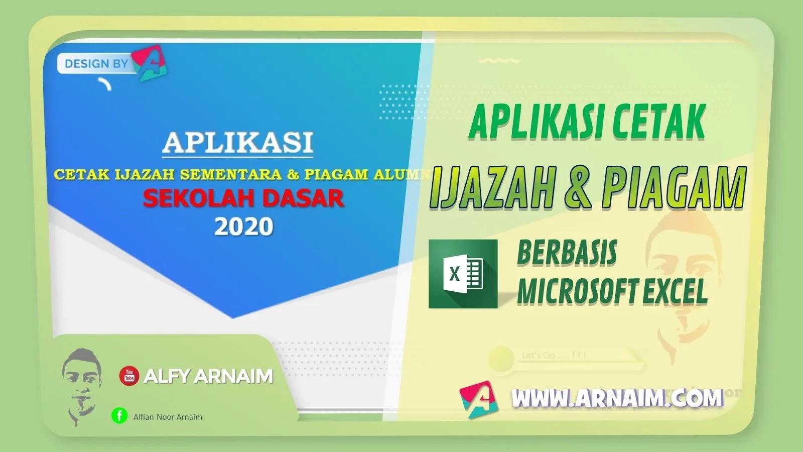 arnaim.com - DOWNLOAD APLIKASI CETAK IJAZAH DAN PIAGAM ALUMNI SD 2020