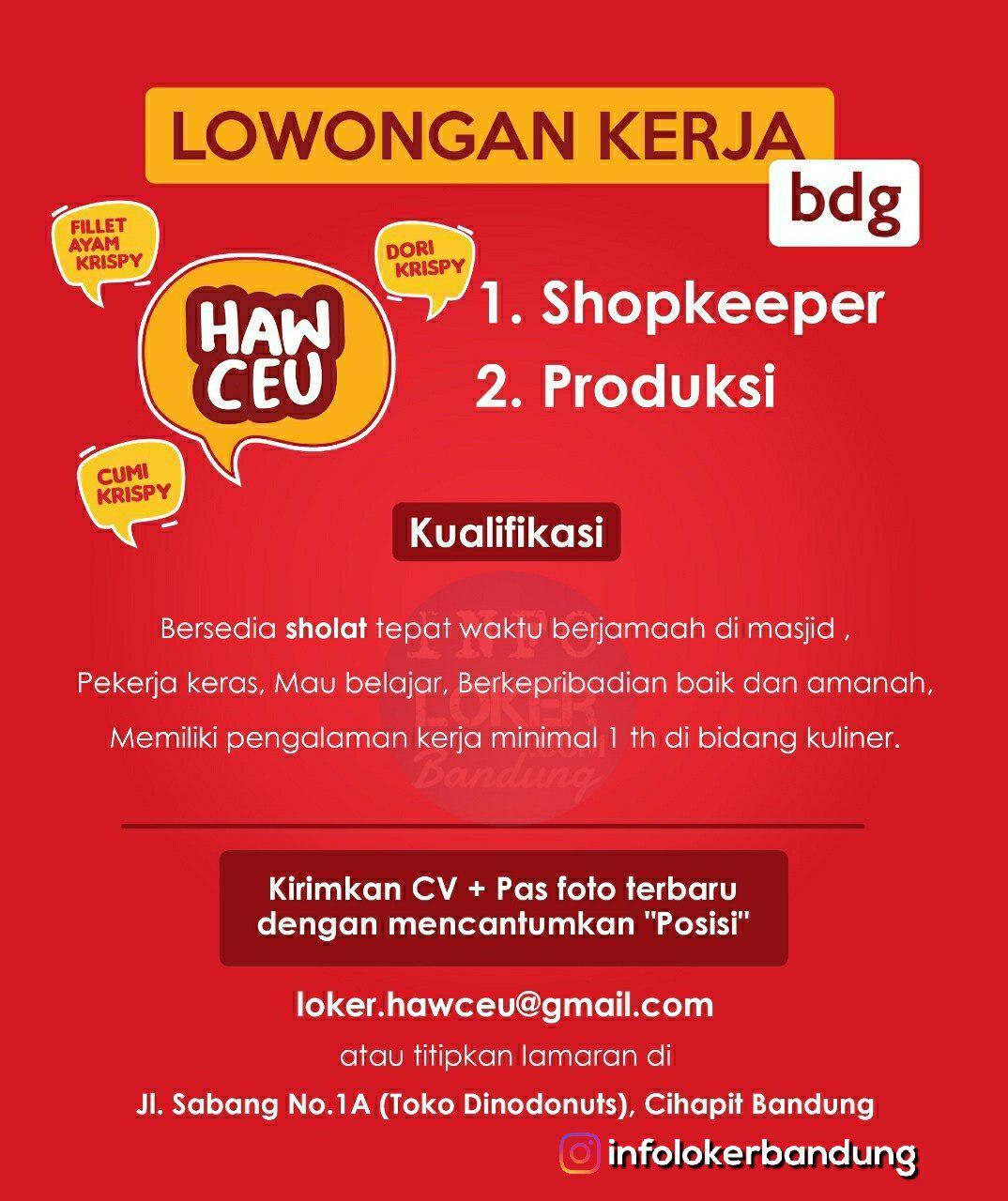 Lowongan Kerja Hawceu Bandung Desember 2018