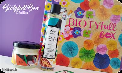 "BIOTYfull Box ""L'ensoleillée"" huile baïja"