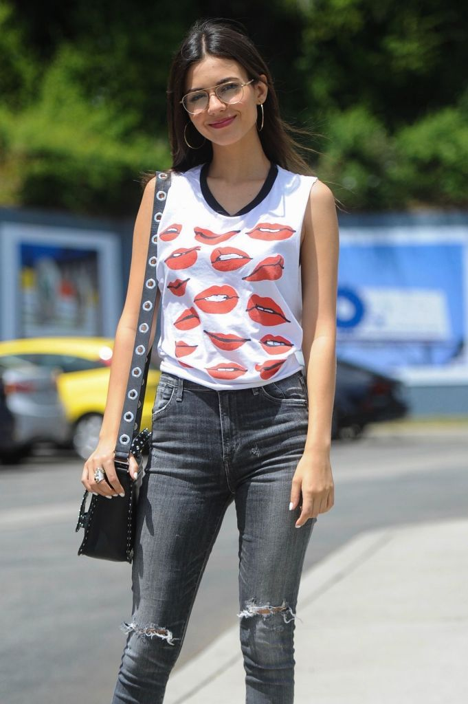 Victoria Justice in a Grunge Outfit at Sunset Boulevard in LA