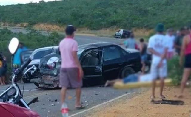 Caetité: Mulher morre e duas pessoas ficam feridas em grave acidente na BA-611