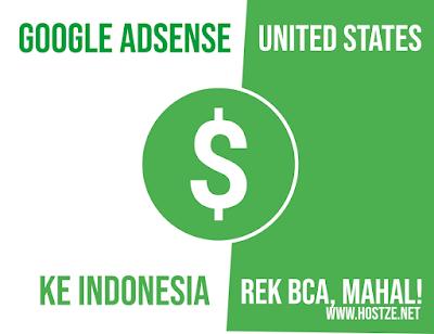 Gajian Dari Google Adsense US Lewat Rekening BCA (Dollar to Rupiah). MAHAL!! - hostze.net