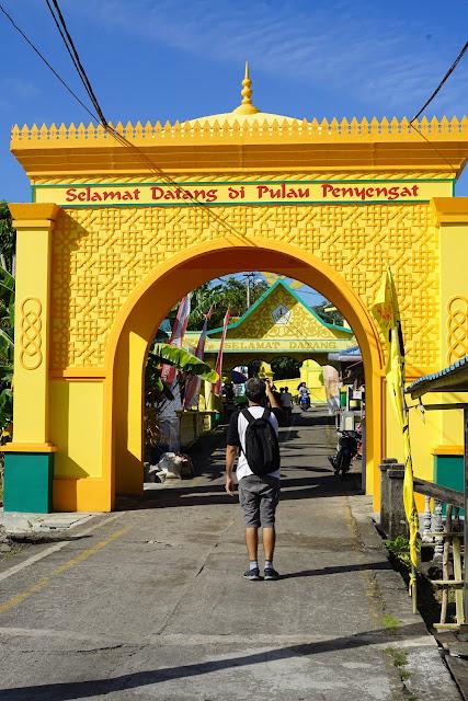 Gerbang selamat datang di Pulau Penyengat