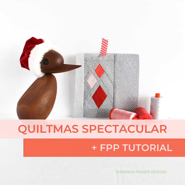 Quiltmas Spectacular + Ultimate Foundation Paper Piecing Tutorial | Shannon Fraser Designs #holidaysewing #christmas #quilttutorial #foundationpaperpiecing #fpp #tutorial