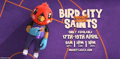 Bird City Saint Phoenix Edition Vinyl Figure by Sentrock x Mighty Jaxx
