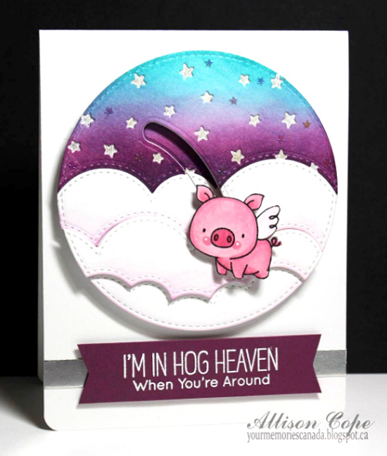 Hog Heaven stamp set, Surf & Turf, Stars in the Sky - Vertical, Stitched Cloud Edges Die-namics  - Allison Cope Israels #mftstamps