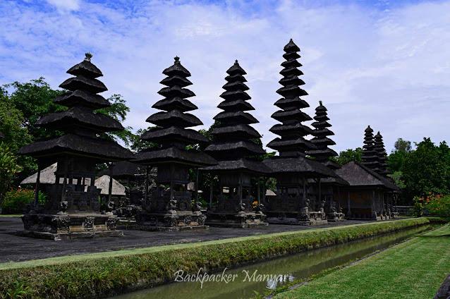 Kompleks Meru Tumpang di Pura Taman Ayun Bali