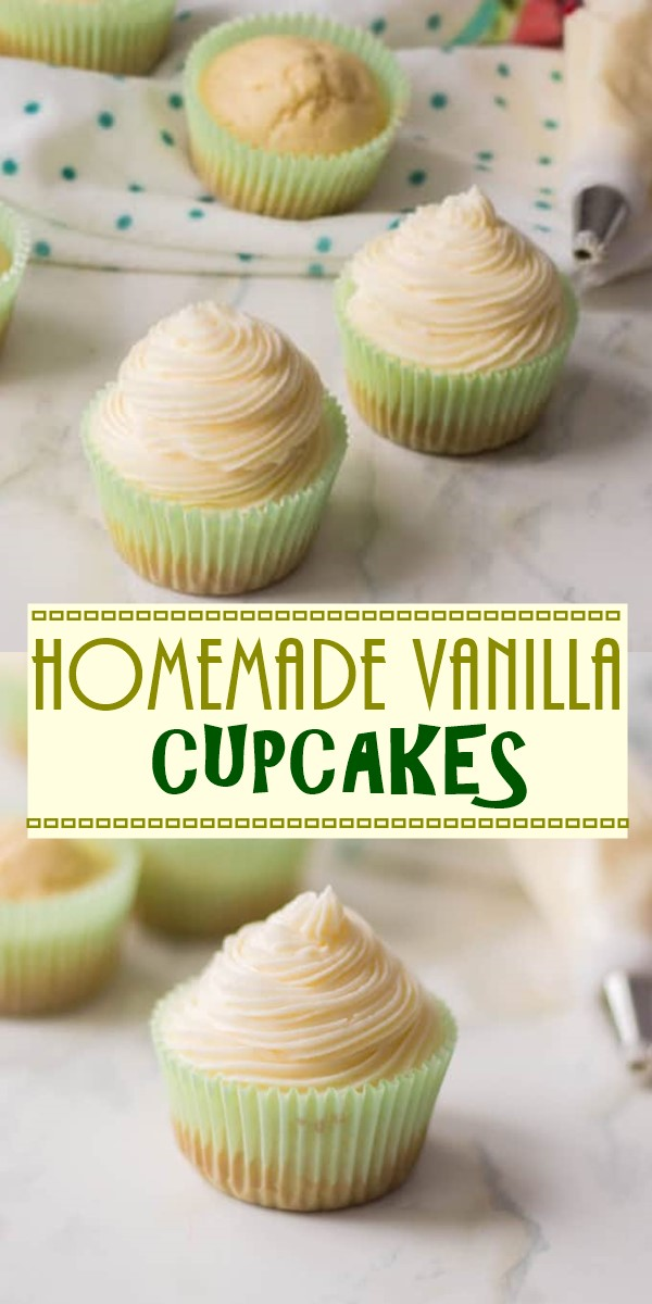 HOMEMADE VANILLA CUPCAKES #cupcakerecipes