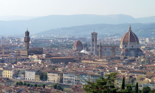 Vistas de Florencia desde la Iglesia de San Miniato.