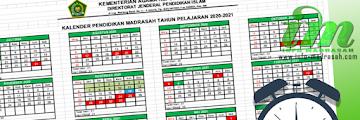 Kalender Pendidikan RA/Madrasah 2020/2021 Dirjen Pendis