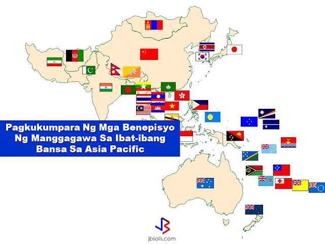 Different countries in Asia Pacific Region has different rules and regulations with regards to the employee benefits. Each rules can be exactly the same or slightly different from each of them.  Here are the comparison of employee benefits in each country in Asia Pacific:                                The comparison is based on different benefits that an employee can get such as statutory paid holiday per annum, statutory annual paid leave, standard working hours, statutory paid sick leave, maternity leave, parental leave including paternity leave, minimum wage, unemployment insurance among others.                              Hong Kong Mainland China Macau Taiwan Australia Cambodia Dubai India Indonesia Japan Malaysia Myanmar (Burma) New Zealand Pakistan Philippines Russia Singapore South Korea Sri Lanka Thailand Vietnam Statutory Paid Holiday per Annum 12 days 11 days 10 days 12 days 11-22 days (varies across states) 28 days Around 10 days 10-15 days 19 days 16 days 11 days 2 weeks 11 days 2 weeks 11 days 16 days 11 days 15 days 16 days 13 days 12 days Statutory Annual Paid Leave 7-14 days, depends on years of service 5-15 days, depends on years of service 6 days 7-30 days, depends on years of service 4 weeks, depends on ordinary hours of work, for both full time and part time 18 days 2 days/month if completed 6 months and 30 days if completed 1 year of service 18 days in factories and 12-21 days (varies across states) in shops and commercial establishments 12 days 10-20 days, depends on years of service 8-16 days, depends on years of service 10 days Min. 4 weeks 2 weeks 13-16 days, depends on years of service Min. 28 days after 6 months' service 1-2 weeks, depends on years of service 15 days, depends on years of service Max. 2 weeks, depends on years of service (no entitlement in the 1st year of service) Min. 6 days after 1 year's service and depends on years of service 12-14 days, depends on terms of services Standard Working Hours X 44 hrs/week 48 hrs/week 40 hrs/week, no more than 8 hours per day 38 hrs/week 48 hrs/week 48 hrs/week 48 hrs/week 40 hrs/week 40 hrs/week 48 hrs/week 35-48 hrs/week, depends on job nature X 48 hrs/week 40-48 hrs/week, depends on job nature 40 hrs/week 44 hrs/week 40 hrs/week 45-48 hrs/week, depends on job nature 42-48 hrs/week, depends on job nature 48 hrs/week Statutory Paid Sick Leave Max. 120 days with 80% pay Work-related sickness or injury – up to 12 months with full pay. Non-work-related sickness or injury – ranges from 3-24 months, depends on the employees' period of employment 6 days First 30 days: half pay, after 30 days: no pay 10 days Up to 6 months, 1st month with full pay, 2nd & 3rd month with 60% pay, no pay for 4th-6th month After 3 months' probation. 1st 15 days with full pay, next 30 days with 50% pay, no pay for any following period Max. 15 days (varies across states) 1st 4 months with full pay, 2nd 4 months with 75% pay, 3rd 4 months with 50% pay, subsequent months with 25% pay until termination of employment X 14-60 days, depends on years of service 30 days with full pay after 6 months' services 5 days per year after 6 months' service, additional 5 days after each subsequent 12 months, employees can continue to accumulate 5 days of sick leave every 12 months, until they reach a maximum balance of 20 days of sick leave 16 days with 50% pay 12-15 days, depends on years of service 60-100% pay, depends on years of service Up to 2 weeks for outpatient non-hospitalisation leave and 60 days for hospitalisation leave Depends on company policy Max. 7 days 30 days with full pay 30 days Statutory Maternity Leave 10 weeks with 80% pay 98 days 56 days 56 calendar days with full pay after 6 months' service, half pay for service less than 6 months 18 weeks paid leave at the National Minimum Wage 90 days with 50% pay 45 days with full pay Max. 12 weeks 6 weeks before delivery and 6 weeks after delivery with full pay 6 weeks before delivery and 8 weeks after delivery, up to 2/3 of pay covered by social insurance Min. 60 consecutive days 6 weeks before delivery and 6 weeks after delivery with full pay 18 weeks with full pay 12-13 weeks with full pay 60 days for normal delivery and 78 days for caesarian delivery for the first four deliveries and miscarriages 70 days before delivery and 70 days after delivery, covered by the Russian State Social Insurance Fund 16 weeks 90 days (120 days for twins) 84 days with full pay, excludes holidays 90 days with full pay by employer and the Social Welfare Fund 6 months with full pay, additional 30 days for multiple births Satutory Parental Leave (Such as Paternity Leave, Childcare Leave) Paternity leave: 3 days with 80% pay Paternity leave: in general does not exceed 14 days; varies between local rules or age of employee's wife X Paternity leave: 3 days with full pay, Parental leave: max. 2 years of unpaid leave Parental leave: 18 weeks paid leave at the National Minimum Wage which is fully funded by the government X 3 consecutive working days during the 1st month of the child birth, in public sector only 15 days leave before or within 6 months from date of delivery, pay according to last pay before leave, for male civil servants only Personal leave: 2 days with full pay when employee's wife gives birth Childcare leave applicable to both female and male employees with child under 1 X X Paternity leave: 1-2 weeks, depends on service period X Paternity leave: 7 working days with full pay for married employee, Solo paternity leave: 7 working days Parental leave: 3 years with 40% pay until the child is 18 months Paternity leave: 1 week, Childcare leave: 6 days Parental leave: min. 5 days, Childcare leave: 6 days per year with child under 7 X Paternity leave: 15 days with full pay for State workers only Paternity leave: 5-14 days, depends on situation Collective Bargaining Law X √ √ √, applicable to those with unions only √ √ X √ √ √ √ √ √ √ √ √, applicable to those with trade unions only √ √ √ √ √ Remedies for Unreasonable / Unlawful Dismissal ^ √ √ √ X √ √ √ √ √ √ √ X √ √ √ √ √ √ √ √ √ Statutory Minimum Wage √ √ √, applicable to cleaning and security workers only √ √ √ X √ √ √, varies across locations √ √, varies across industries and locations √ √ √ √ X √ √ √ √ Unemployment Insurance X √ √ √ √ X √ ,for those who are genuinely unable to work only √ X √ X √ √ X √ √ X √ X √ √ ^ The current labour / employment law of most countries rules the following situations where employers cannot dismiss an employee: - have work-related injury, lose work capability in total or in partial - during designated medical treatment period during sickness or injury • HKIHRM disclaims any liability for any loss or damage arising from any inaccuracy or omission in the information contained herein or from the reliance upon it. No guarantee that such data is accurate as of the date it is received or that it will continue to be accurate in the future. No one should act upon such data without appropriate professional advice. - during pregnancy, delivery, or nursing period for female employees - other situations specified by laws and regulations A Comparative Table on Employee Benefits in the Asia Pacific Main Region (including Hong Kong, Macau and Mainland China)
