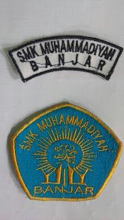 Badge Bordir Logo Sekolah dan Nama Siswa