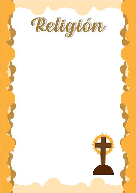 caratulas para religión