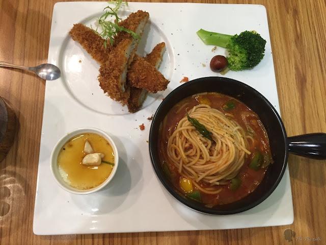 高雄日光徐徐-普羅旺斯香酥魚義大利麵
