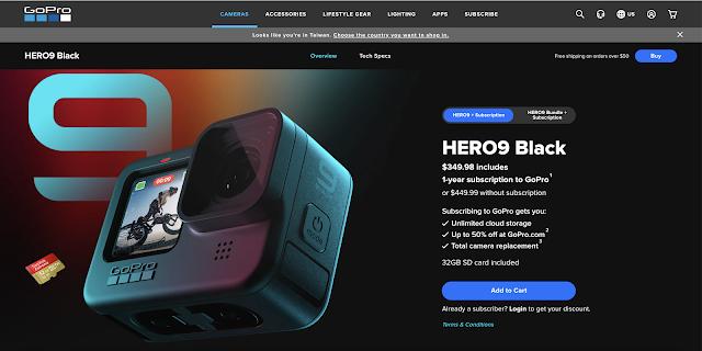 【攝影情報】地表最強 GoPro HERO9 Black,驚人超能力超越所有運動攝影機 - 綁定 GoPro 訂閱服務,HERO9 Black 可折價 100 美金