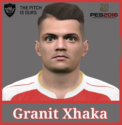 PES 2016 Granit Xhaka Face by Ozy_96 PES MOD