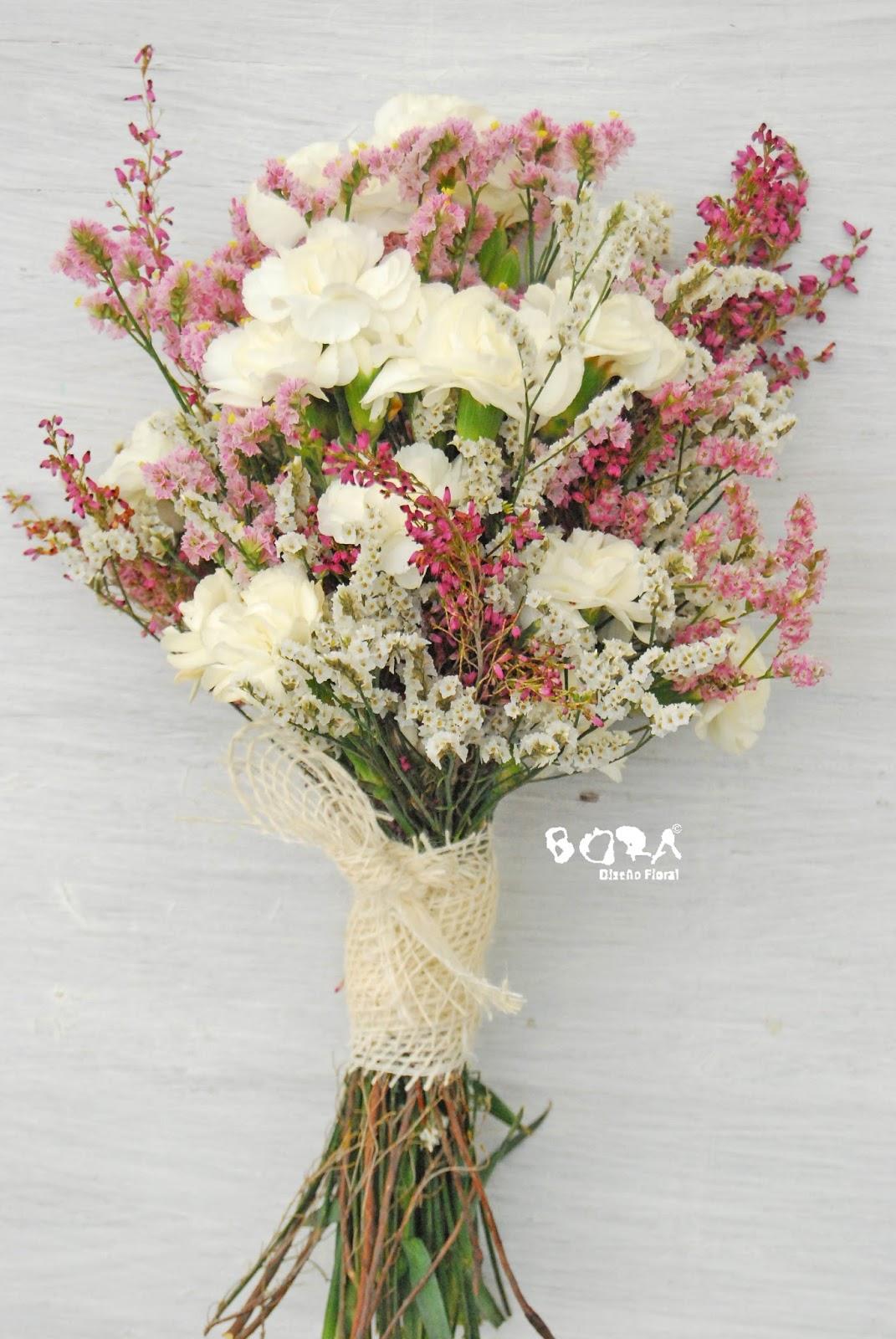 limonium brezo y clavelina - Ramos De Flores Silvestres