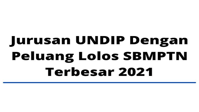 Jurusan UNDIP Dengan Peluang Lolos SBMPTN Terbesar 2021