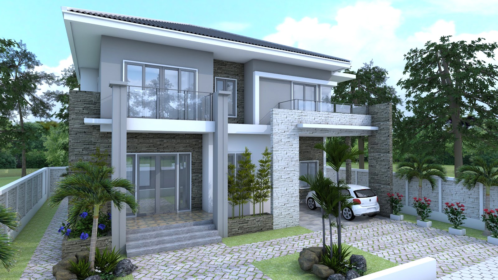 10 Best House Plans Of August 2017: SketchUp Modern Home 10x12m.