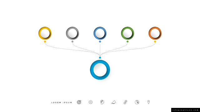 Various Circular, Organization, Process Infographics for PowerPoint Slide 2