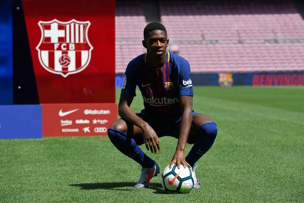 3e3c3998f906 Ousmane Dembele unveiled in front of 18