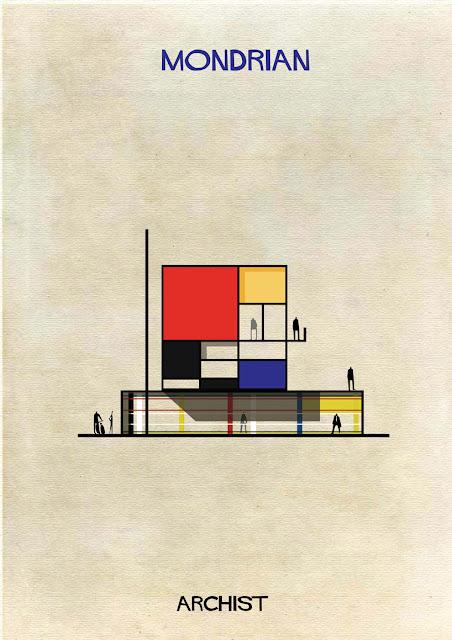 もし有名画家が建築物を作ったら?ゴッホ、ピカソ、ダリの建築? モンドリアン