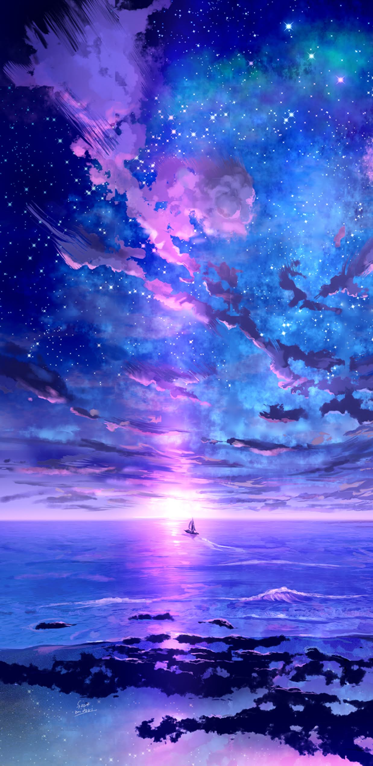 Starry sky wallpaper