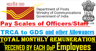 7th-cpc-pay-scales-of-officers-staff-working-in-deptt-of-posts-trca-to-gds