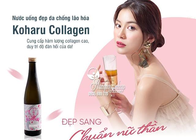 Nước uống làm đẹp da koharu Collagen có tác dụng gì
