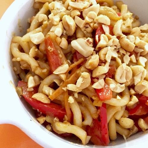 Spicy Peanut Noodle Bowls
