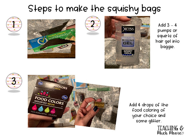 squishy bag for multisensory learning