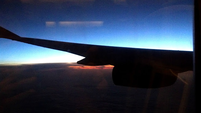 sunrise on an airplane