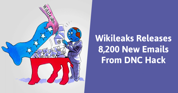 Wikileaks Gets DDoSed after Leaking 8,200 DNC Emails One Day before U.S. Election