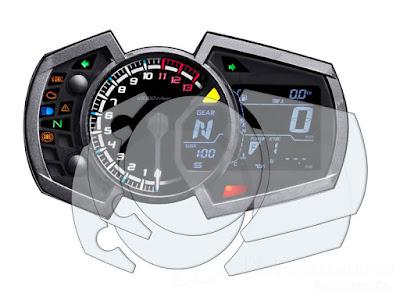 メーターパネルプロテクションフィルム & 作業用ツールセット Kawasaki ZX-25R ('20-)