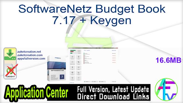 SoftwareNetz Budget Book 7.17 + Keygen