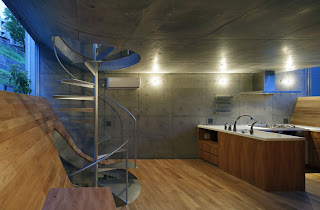 Escalera de caracol de acero