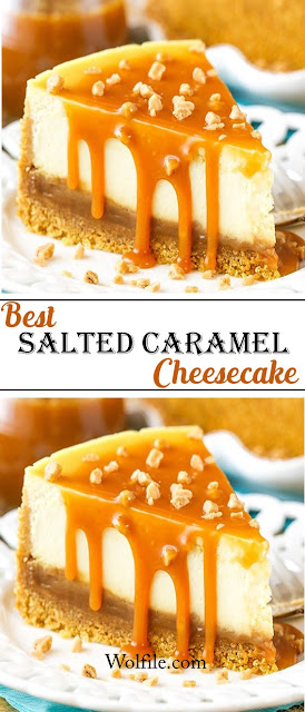 Best Salted Caramel Cheesecake Recipe #Cake