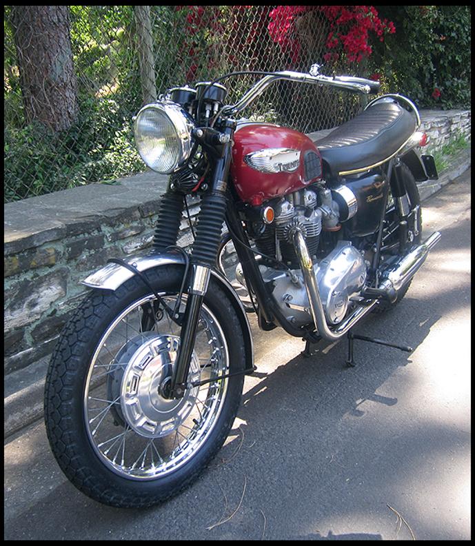 ton up clics: 1968 Triumph Bonneville Survivor.