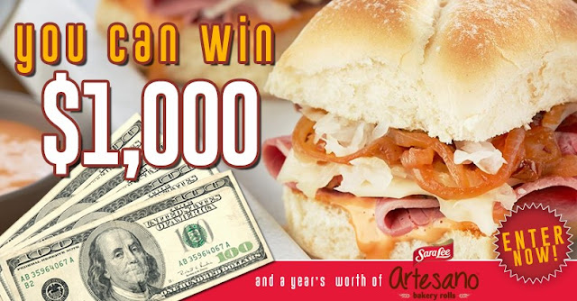 Sara Lee Artesano Bakery Rolls Sweepstakes