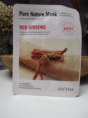 Prírodná pleťová maska Secriss - Červený ženšen