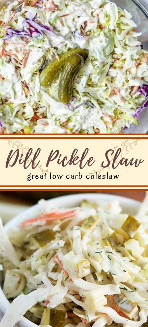 Dill Pickle Slaw #vegan #vegetarian #soup #breakfast #lunch
