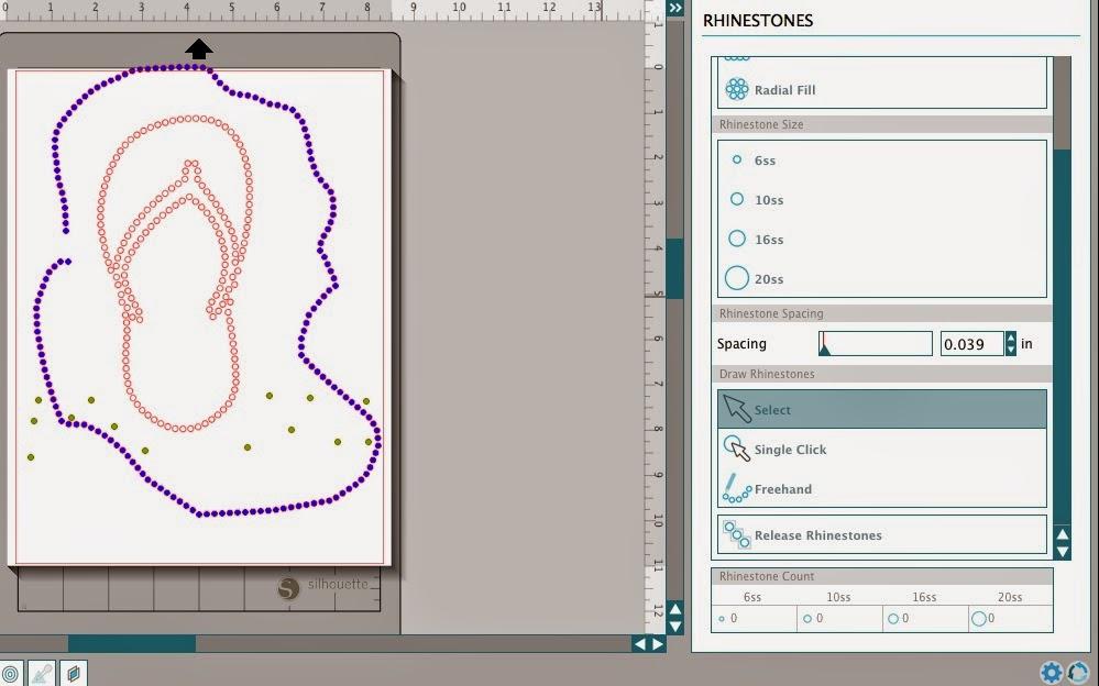Silhouette Studio, custom, rhinestone designs, Silhouette tutorial, free hand