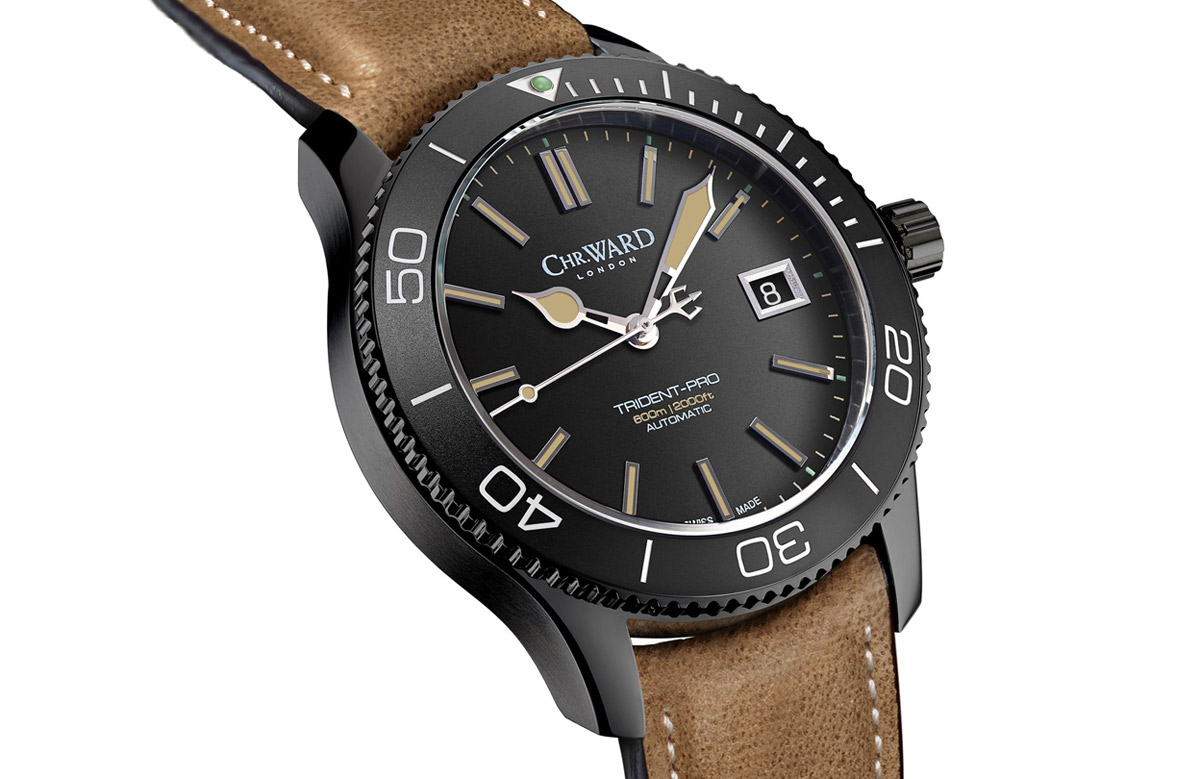 christopher ward c60 trident pro 600 time and watches