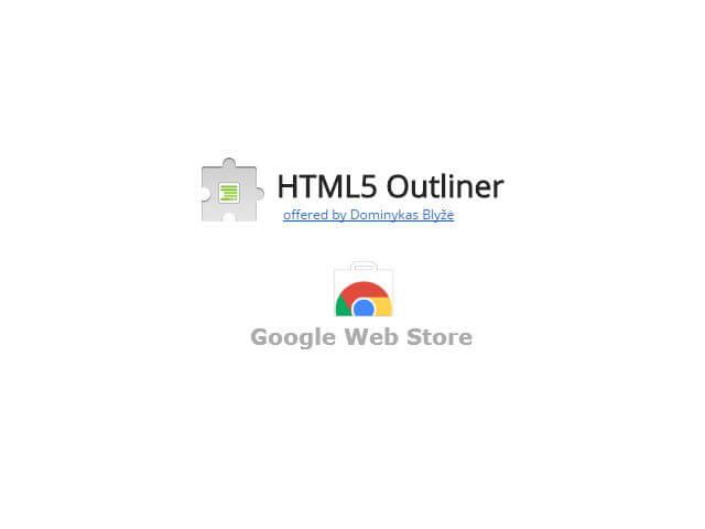 [外掛] Chrome 擴充:HTML5 Outliner 抓取網站標題節元素生成大綱結構_001