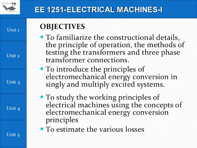 Electrical machines I