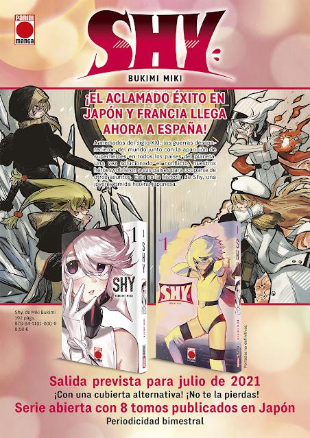 Shy de Bukimi Miki, licenciado por Panini Comics.