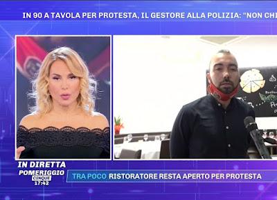 Barbara D'Urso Umberto 27 ottobre